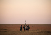 One of the highlights of this trip was a hot air balloon ride over the Serengeti. Pilots measure wind speed to ensure there are safe flying conditions prior to our flight.
