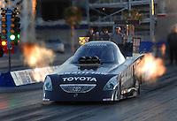 Jan 21, 2007; Las Vegas, NV, USA; NHRA Funny Car driver Scott Kalitta launches during preseason testing at The Strip at Las Vegas Motor Speedway in Las Vegas, NV. Mandatory Credit: Mark J. Rebilas