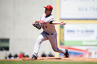 Richmond Flying Squirrels pitcher Phil McCormick (29) delivers a pitch during a game against the Erie Seawolves on May 20, 2015 at Jerry Uht Park in Erie, Pennsylvania.  Erie defeated Richmond 5-2.  (Mike Janes/Four Seam Images)