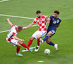 23.06.2021 Croatia v Scotland follow ups: Che Adams with Domagoj Vida and Josko Gvardiol