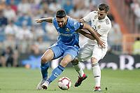 Real Madrid's Nacho Fernandez (r) and Getafe CF's Jorge Molina during La Liga match. August 19,2018.  *** Local Caption *** © pixathlon<br /> Contact: +49-40-22 63 02 60 , info@pixathlon.de