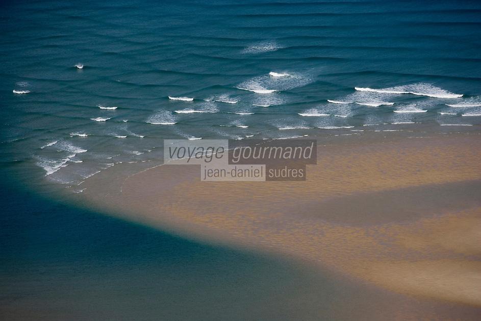 Europe/France/Aquitaine/33/Gironde/Bassin d'Arcachon: environs du Banc d'Arguin -réserve naturelle -vue aérienne