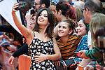 Actress Anna Castillo taking a selfie with a fan during orange carpet of 'Estoy Vivo' during FestVal in Vitoria, Spain. September 04, 2018. (ALTERPHOTOS/Borja B.Hojas)