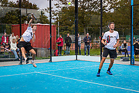 Netherlands, September 5,  2020, Amsterdam, Padel Dam, NK Padel, National Padel Championships, Men's doubles: Martijn van Haasteren (NED) (L) and Jasper Smit (NED)<br /> Photo: Henk Koster/tennisimages.com