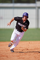 Cade Bush (30) during the WWBA World Championship at Terry Park on October 8, 2020 in Fort Myers, Florida.  Cade Bush, a resident of Palm Beach Gardens, Florida who attends Palm Beach Gardens High School, is committed to Florida State.  (Mike Janes/Four Seam Images)