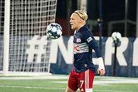 FOXBOROUGH, MA - OCTOBER 16: Connor Presley #7 of New England Revolution II during a game between North Texas SC and New England Revolution II at Gillette Stadium on October 16, 2020 in Foxborough, Massachusetts.