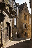 Europe/France/Aquitaine/24/Dordogne/Vallée de la Dordogne/Périgord Noir/Sarlat-la-Canéda: Porte de l'Hôtel de Magnanat