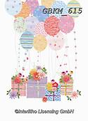 Kate, CHILDREN BOOKS, BIRTHDAY, GEBURTSTAG, CUMPLEAÑOS, paintings+++++Presents and balloons 2.,GBKM615,#bi#, EVERYDAY