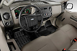 High angle dashboard view of a 2008 Ford f250 Regular Cab
