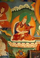 Wandbild im Kloster Lekir, Ladakh (Jammu+Kashmir), Indien.