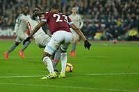 Sadio Mane of Liverpool scores the first Goal and celebrates during West Ham United vs Liverpool, Premier League Football at The London Stadium on 4th February 2019