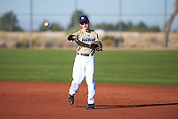 Ethan Riggs (43), from Mesquite, Texas, while playing for the Brewers during the Under Armour Baseball Factory Recruiting Classic at Red Mountain Baseball Complex on December 29, 2017 in Mesa, Arizona. (Zachary Lucy/Four Seam Images)