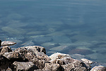 Crystal clear water of the Quabbin Reservior near the Goodnough Dike in Central Massachusetts.