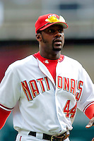4 September 2005: Preston Wilson, outfielder for the Washington Nationals,trots back to the dugout during a game against the Philadelphia Phillies. Wilson went 3 for 4, with a 3-run homer in the 7th inning, as the Nationals defeated the Phillies 6-1 at RFK Stadium in Washington, DC. Mandatory Photo Credit: Ed Wolfstein.