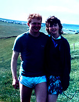 BNPS.co.uk (01202 558833)<br /> Pic: NeilCrocker/BNPS<br /> <br /> Pictured: Neil and Claudia Crocker in 1988.<br /> <br /> A postcard sent by a Royal Navy officer from South America has reached its recipient 30 years later.<br /> <br /> Neil Crocker sent it during a stop-off at Chile in 1991 while returning from the Falkland Island onboard HMS Cumberland.<br /> <br /> He sent it to his future father-in-law to 'make a good impression' before asking for his daughter's hand in marriage.