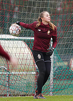 Goalkeeper Lisa Lichtfus (16 Standard) pictured during the warm up before a female soccer game between Standard Femina de Liege and RSC Anderlecht on the 9th matchday of the 2020 - 2021 season of Belgian Scooore Womens Super League , saturday 12 th of December 2020  in Angleur , Belgium . PHOTO SPORTPIX.BE   SPP   SEVIL OKTEM