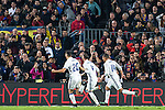 Real Madrid's Sergio Ramos,Carlos Henrique Casemiro , Marco Asensio, during spanish La Liga match between Futbol Club Barcelona and Real Madrid  at Camp Nou Stadium in Barcelona , Spain. Decembe r03, 2016. (ALTERPHOTOS/Rodrigo Jimenez)
