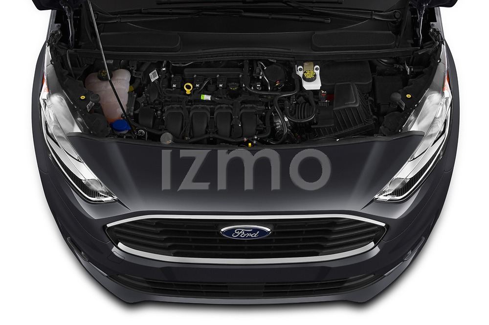Car Stock 2019 Ford Transit-Connect XLT 5 Door Combi Engine  high angle detail view