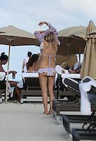 APRIL 27 2013.ITALIA DIVA, RITA RUSIC ENJOY MIAMI BEACHES WITH BOYFREIND.Non Exclusive.Mandatory Credit: KDNPIX.COM..Ref: kdn_SOL