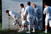 Football practice Dartmouth College.