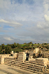 Beth Shean, remains of the Roman temple, built in the 2nd century AD at the Roman city Scythopolis