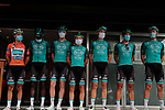 B&B Hotels-Vital Concept/KTM team at sign on before Stage 3 of the Route d'Occitanie 2020, running 163.5km from Saint-Gaudens to Col de Beyrède, France. 3rd August 2020. <br /> Picture: Colin Flockton | Cyclefile<br /> <br /> All photos usage must carry mandatory copyright credit (© Cyclefile | Colin Flockton)