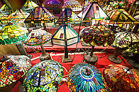 Antique lamps and lighting store.