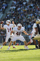 South Bend, IN - OCTOBER 4:  Fullback Owen Marecic #48 of the Stanford Cardinal during Stanford's 28-21 loss against the Notre Dame Fighting Irish on October 4, 2008 at Notre Dame Stadium in South Bend, Indiana.