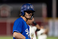 Rancho Cucamonga Quakes designated hitter Donovan Casey (25) during a California League game against the Visalia Rawhide on April 8, 2019 in Visalia, California. Rancho Cucamonga defeated Visalia 4-1. (Zachary Lucy/Four Seam Images)