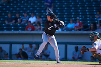 Glendale Desert Dogs center fielder Charlie Tilson (6), of the Chicago White Sox organization, at bat during an Arizona Fall League game against the Mesa Solar Sox on October 28, 2017 at Sloan Park in Mesa, Arizona. The Solar Sox defeated the Desert Dogs 9-6. (Zachary Lucy/Four Seam Images)