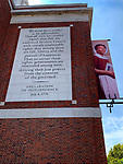 The Declaration of Independence adorns a wall in Philadelphia.