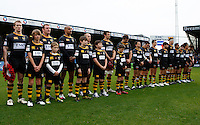 Photo: Richard Lane/Richard Lane Photography. London Wasps v Bath Rugby. LV=Cup. 14/11/2010. Wasps minutes silence.