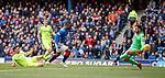 05.05.2019 Rangers v Hibs: Jermain Defoe opens the scoring for Rangers