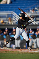 West Virginia Black Bears right fielder Bligh Madris (17) at bat during a game against the Batavia Muckdogs on August 5, 2017 at Dwyer Stadium in Batavia, New York.  Batavia defeated Williamsport 3-2.  (Mike Janes/Four Seam Images)