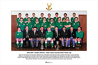 1994-1995   Double Winners - Ulster Junior Cup and Ulster Towns Cup<br /> <br /> Back L-R: Ian Dornan, Paul Koscienly, Michael Finney, Philip Nelson, Ray McCavery, Barry Crawford, Roy Wilson, George Clements.<br /> Middle L-R: David Morrow, Andy Ward, Ronnie Steel, Brian Wilson, Michael Rodgers, Alan Montgomery, Ian Moore, Colin Montgomery.<br /> Front L-R: Mark Napier, Mervyn Smyth (Coach), Trevor Johnston (Manager), George Morton (Director of Coaching), Philip Gregg (Captain), <br /> David Donnan (President), David Workman (Chairman), Joe Carlisle (Ulster Branch Rep), David Dodd.