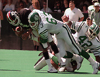 Rick Goltz Saskatchewan Roughriders 1984. Photo F. Scott Grant