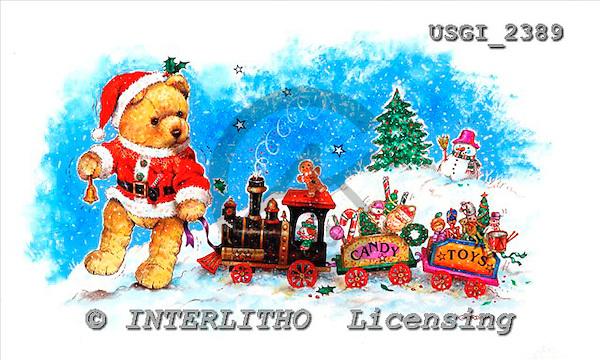 GIORDANO, CHRISTMAS ANIMALS, WEIHNACHTEN TIERE, NAVIDAD ANIMALES, Teddies, paintings+++++,USGI2389,#XA#