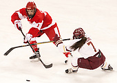 Sarah Steele (BU - 4), Kristyn Capizzano (BC - 7) - The Boston College Eagles defeated the visiting Boston University Terriers 5-3 (EN) on Friday, November 4, 2016, at Kelley Rink in Conte Forum in Chestnut Hill, Massachusetts.The Boston College Eagles defeated the visiting Boston University Terriers 5-3 (EN) on Friday, November 4, 2016, at Kelley Rink in Conte Forum in Chestnut Hill, Massachusetts.