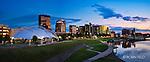 Datyton Ohio Skyline Summer Evening Banner size