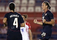 Abby Wambach of USA. USWNT vs Costa Rica in the 2010 CONCACAF Women's World Cup Qualifying tournament held at Estadio Quintana Roo in Cancun, Mexico on November 1st, 2010.