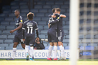 Southend celebrate the opening goal scored by Brandon Goodship, Southend United during Southend United vs Exeter City, Sky Bet EFL League 2 Football at Roots Hall on 10th October 2020