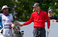 Martin Kaymer (Germany) and his caddy during the BMW PGA PRO-AM GOLF at Wentworth Drive, Virginia Water, England on 23 May 2018. Photo by Andy Rowland.