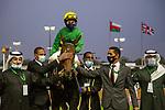 February 19, 2021: MOTAWARIYAH #13 gives jockey Shane Foley a quick fire double taking the lead on International Jockeys Challenge Day, King Abdulaziz Racecourse, Riyadh, Saudi Arabia. Shamela Hanley/Eclipse Sportswire/CSM