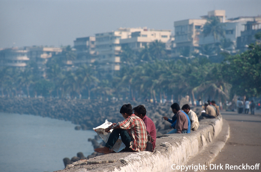 Indien, Bombay (Mumbai), Auf dem Marine Drive