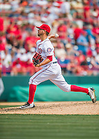 13 March 2016: Washington Nationals pitcher Rafael Martin on the mound during a pre-season Spring Training game against the St. Louis Cardinals at Space Coast Stadium in Viera, Florida. The teams played to a 4-4 draw in Grapefruit League play. Mandatory Credit: Ed Wolfstein Photo *** RAW (NEF) Image File Available ***