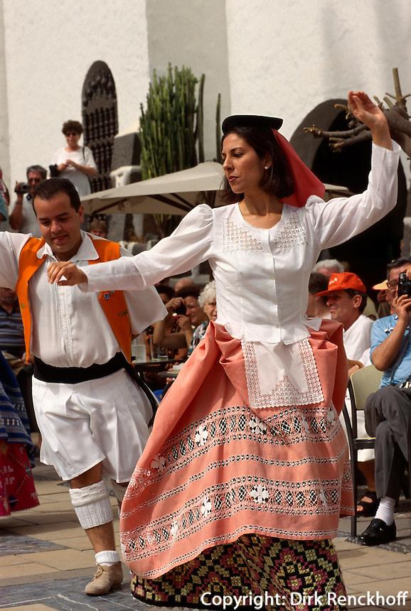 Las Palmas, Folklore im Pueblo Canario, Gran Canaria, Kanarische Inseln, Spanien
