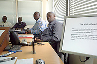 Continuing Professional Development course for ships' pilots from Nigeria at the Manned Models Centre, Warsash Maritime Academy, Southampton.