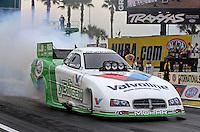 Mar. 17, 2013; Gainesville, FL, USA; NHRA funny car driver Jack Beckman during the Gatornationals at Auto-Plus Raceway at Gainesville. Mandatory Credit: Mark J. Rebilas-