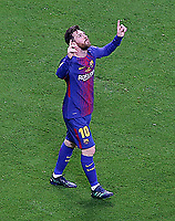 FC Barcelona's Leo Messi celebrates goal during Spanish King's Cup Final match. April 21,2018.  *** Local Caption *** © pixathlon<br /> Contact: +49-40-22 63 02 60 , info@pixathlon.de