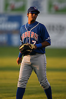 September 3, 2009:  Shortstop Jimmy Gonzalez (7) of the Auburn Doubledays during a game at Dwyer Stadium in Batavia, NY.  Auburn is the Short-Season Class-A affiliate of the Toronto Blue Jays.  Photo By Mike Janes/Four Seam Images